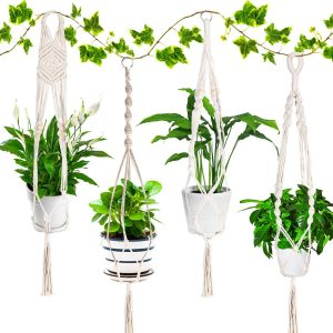 colgador para plantas macrame